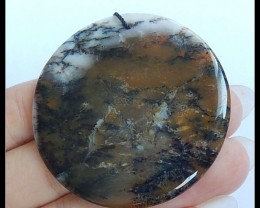 92.5Ct Natural Dendritic Agate Gemstone Pendant BEAD
