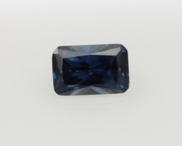 0.61cts Natural Australian Blue Sapphire Radiant Cut