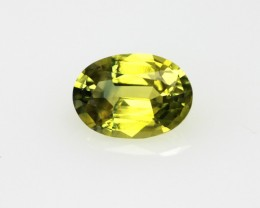 0.73cts Natural Australian Yellow Parti Sapphire Oval Cut