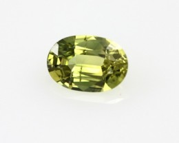 0.64cts Natural Australian Yellow Sapphire Oval Shape