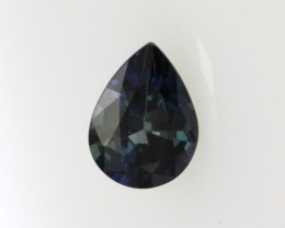 0.78cts Natural Australian Blue Sapphire Pear Shape