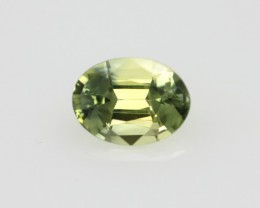 0.80cts Natural Australian Yellow Parti Sapphire Oval Shape