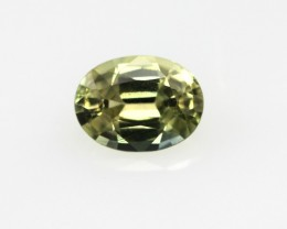 0.74cts Natural Australian Yellow Sapphire Oval Shape