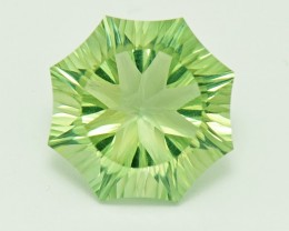 Custom Cut Prasiolite Green Amethyst 'Aspen' cut gemstone 10ct