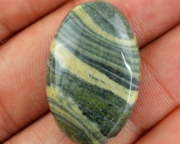 Genuine 37.70 Cts Zebra Jasper Oval Shaped Cab
