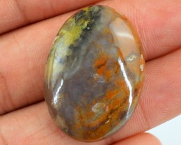 Genuine 34.85 Cts Agate Oval Shaped Cab