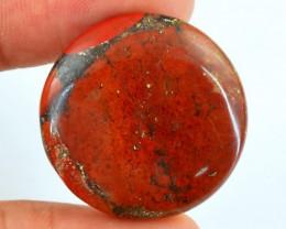 Genuine 43.30 Cts Red Jasper Round Shaped Cab