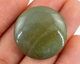 Genuine 43.65 Cts Green Jasper Round Shaped Cab