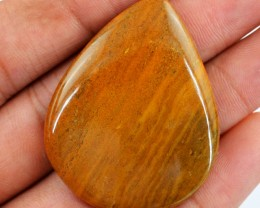 Genuine 73.95 Cts Brown Jasper Pear Shaped Cab