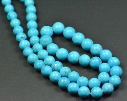 "SALE 8"" 6-8mm Round ARIZONA ORGANIC TURQUOISE TUR004 beads"