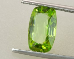 4.04ct Peridot Rectangular Cushion Cut