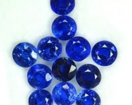 5.98 Cts Natural Kashmir Blue Kyanite (4.5 mm 12 Pcs) Parcel Nepal