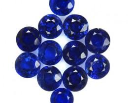 5.73 Cts Natural Kashmir Blue Kyanite (4.5 mm 12 Pcs) Parcel Nepal