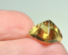 Citrine Gold Green sugar loaf gemstone cabochon