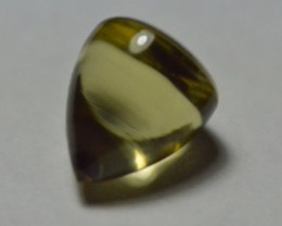 Lemon Citrine bullet gemstone cabochon pointed top