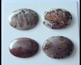 4 PCS Natural Chohua Jasper Cabochons,48.5ct