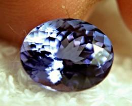 CERTIFIED - 5.77 Carat IF/VVS1 African Tanzanite - Gorgeous