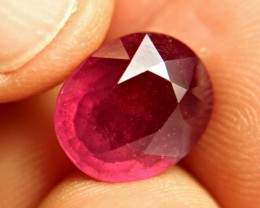 7.61 Carat Fiery Red Ruby - Gorgeous