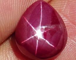 6.97 Ct. Flashy Star Ruby Cabochon