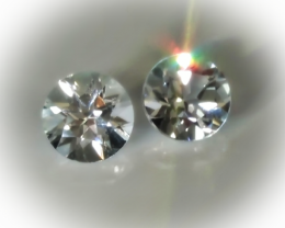 SPECTACULAR TOPAZ PAIR 7.00MM TOP JEWELLERY GRADE GEMS NO RESERVE