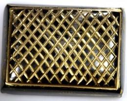 75 CTS BLACK ONYX 24K GOLD ENGRAVED TBG-2362