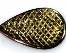 6 CTS BLACK ONYX 24K GOLD ENGRAVED TBG-2367