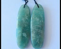 44.5Ct Natural Amazonite Gemstone Earring Beads