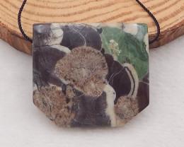 74Ct Natural Mushroom Jasper Pendant Bead P0033