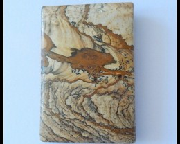 129.5Ct Natural Impressionist Picture Stone Pendant Bead