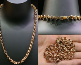36.9 grams 9K GOLD CHAIN ROSE GOLD L413