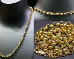 16.5 Grams  9K GOLD  CHAIN, 45 CM LONG  L367