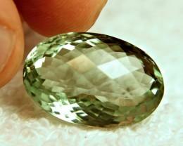 27.3 Ct. VVS Brazil Checkerboard Prasiolite