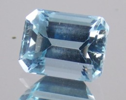 2.21 ct Aquamarine Emerald Cut