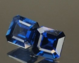 1.25tcw  Sapphire Matching Pair