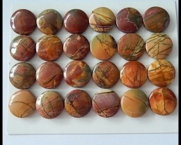 209.5Ct Natural Multi Color Picasso Jasper Cabochons Parcel,24 PCS