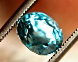 2.94 Carat Vibrant Swiss Blue Zircon