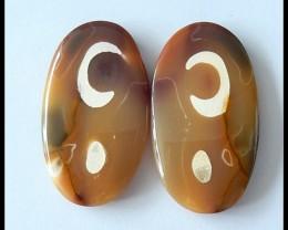 80.4Ct Natural Mookaite Jasper Gemstone Pair