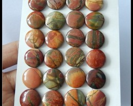 24 PCS Natural Multi Color Picasso Jasper Cabochons Parcel