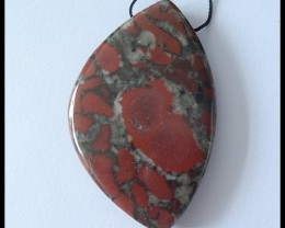 Jasper Pendant Bead, Gemstone Pendant Bead, jewelry Making (N021)