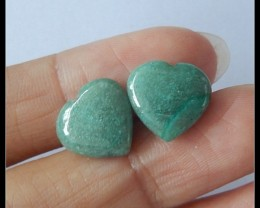 9Ct Natural Chrysocolla Gemstone Pair