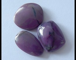 3 PCS Natural Sugilite Gemstone Cabochons