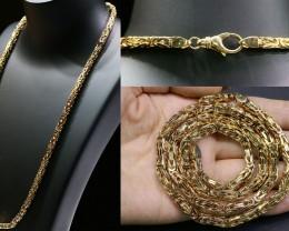 82 grams HEAVY 9 K GOLD CHAIN,  60 CM LONG L320