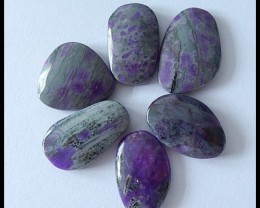 6 PCS Natural Sugilite Gemstone Cabochon Parcel,65Ct