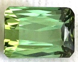 3.04ct Bright Neon Green Tourmaline, Nigeria - VVS BB33