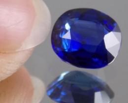 Beautiful, deep blue sapphire.