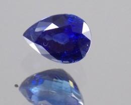 1.17ct Pear shaped, Dark blue sapphire.