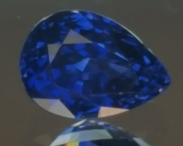 1.17ct Pear shaped Blue sapphire.