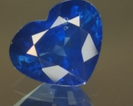 2.200ct Heart Shaped Blue Sapphire