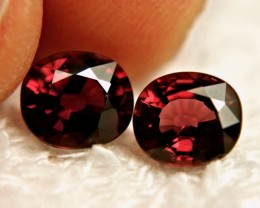 3.53 Tcw. Matched Rhodolite Garnets - Gorgeous