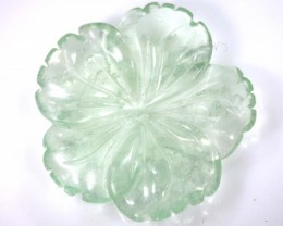 22.25 cts PREHNITE FLOWER CARVING DRILLED TBG-2398